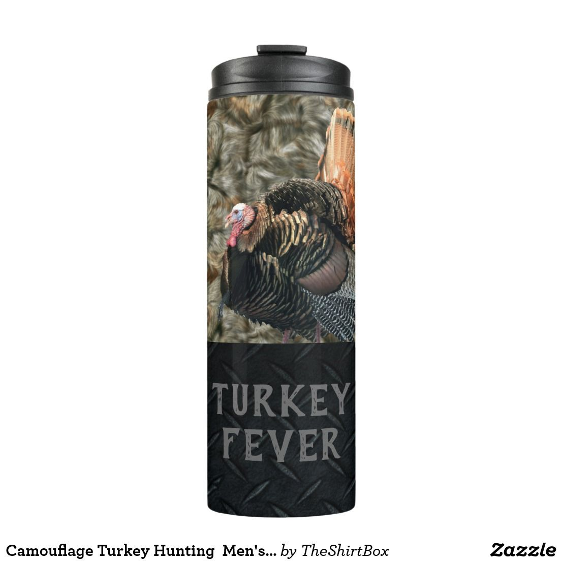 Camouflage turkey hunting mens tumbler in