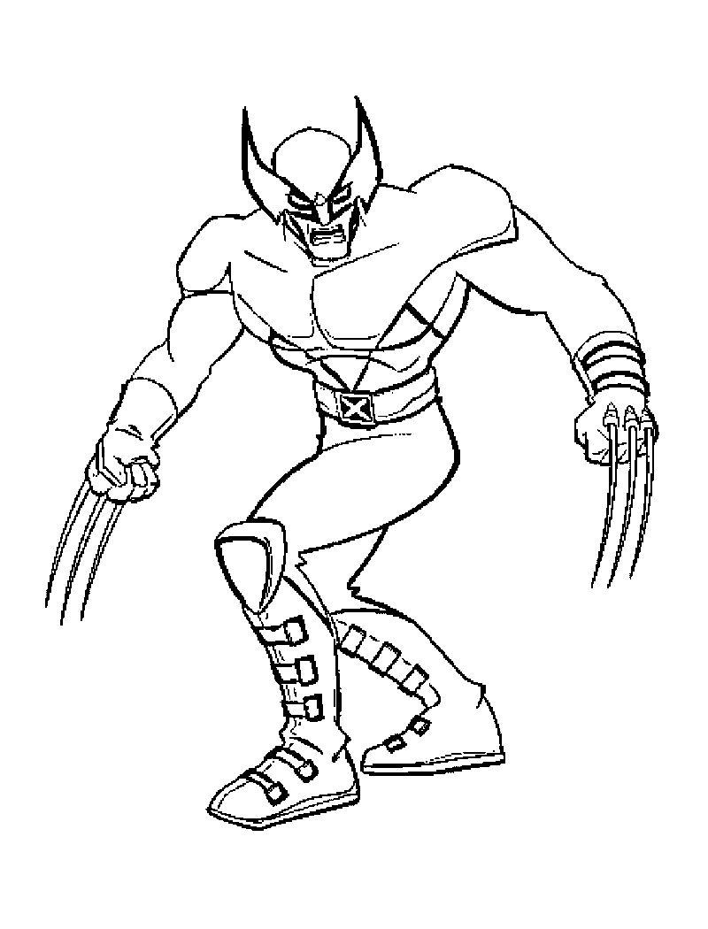 X Men Coloring Pages Free Printable Gambar