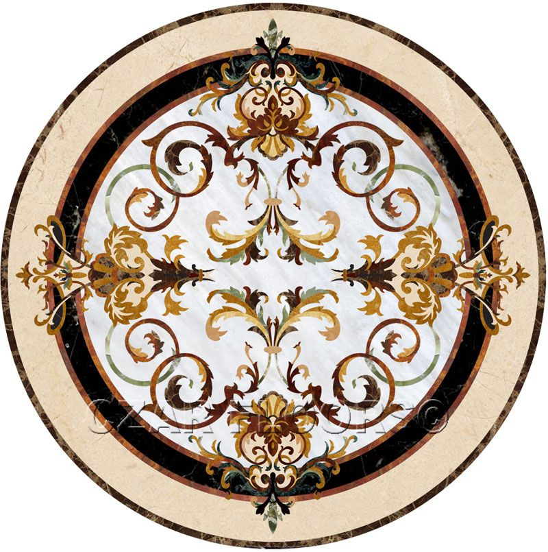 Decorative Tile Medallions Larger Image For Rafael In Stone Medallions  Part Of Czar Floors