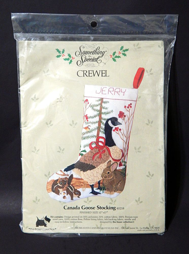 Candamar CANADA GOOSE & WILDLIFE Stocking Crewel