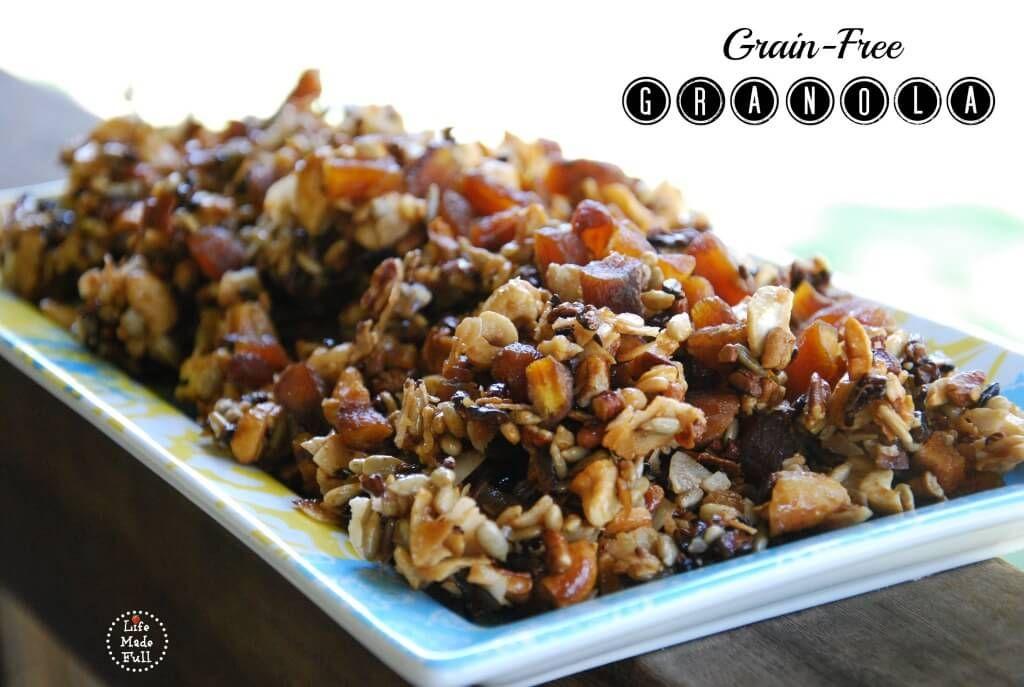 Grainfree granolatrail mix grain free granola paleo