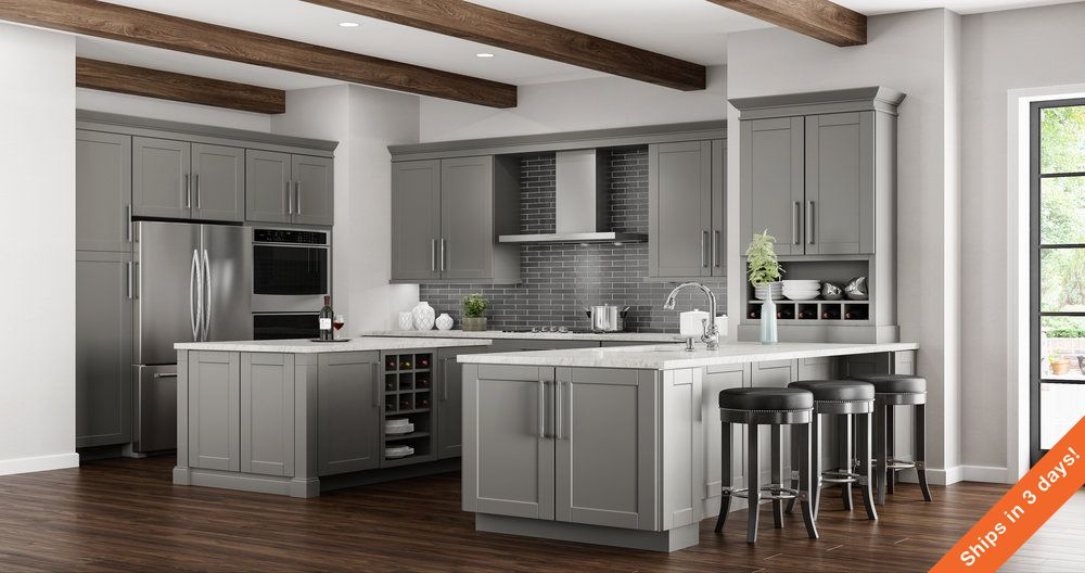 Shop Our Kitchen Cabinets Department To Customize Your Shaker Wall
