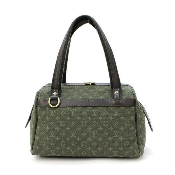 1fd66399d16 Louis Vuitton Josephine PM Monogram Mini Handle bags Green Canvas ...