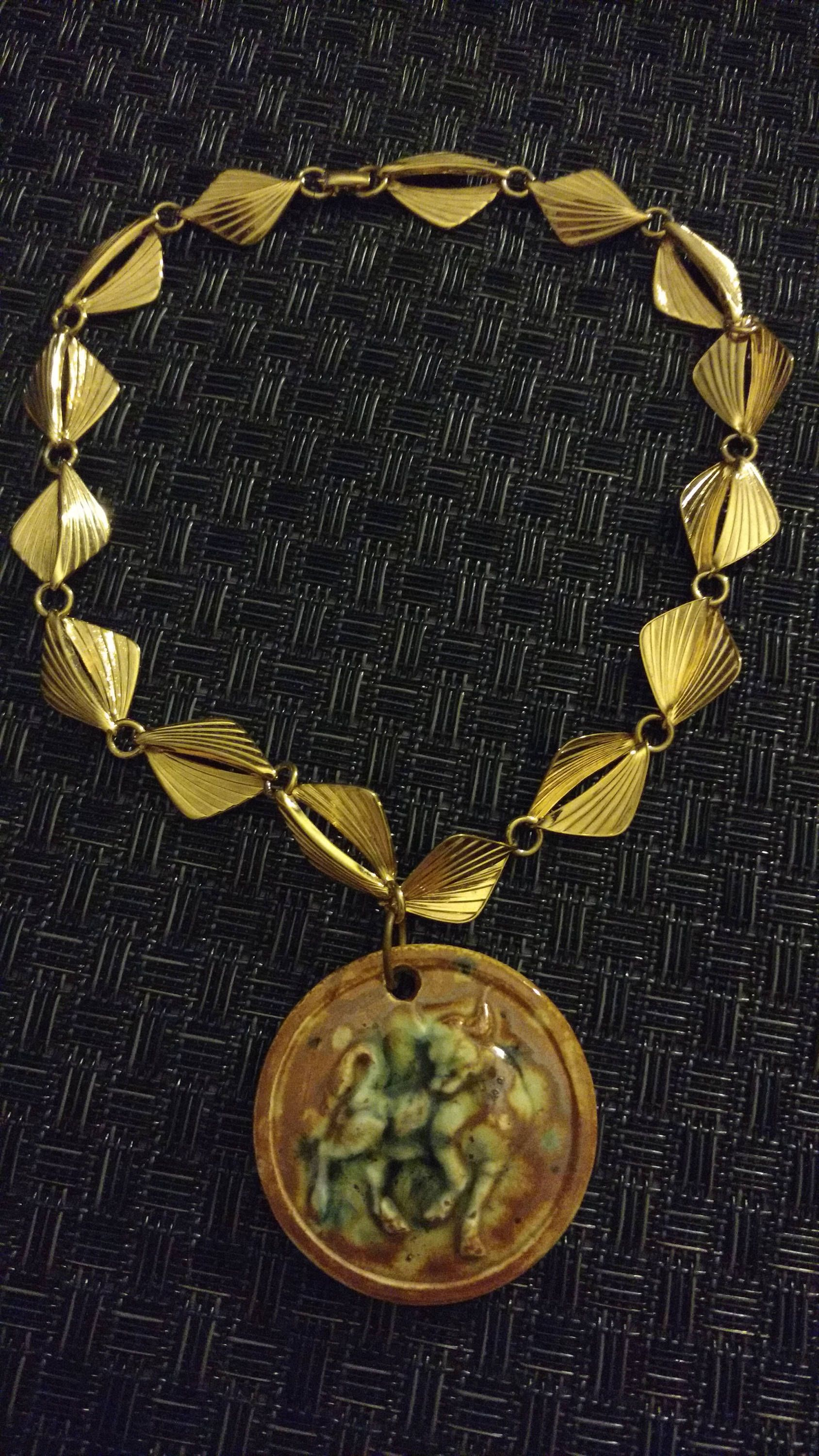 Upcycled necklace// Taurus// vintage// choker // unusual// gift for ...