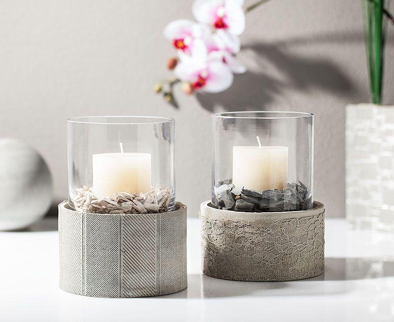 kreativ tipp windlicht aus kreativ beton basteln basteln pinterest beton basteln. Black Bedroom Furniture Sets. Home Design Ideas