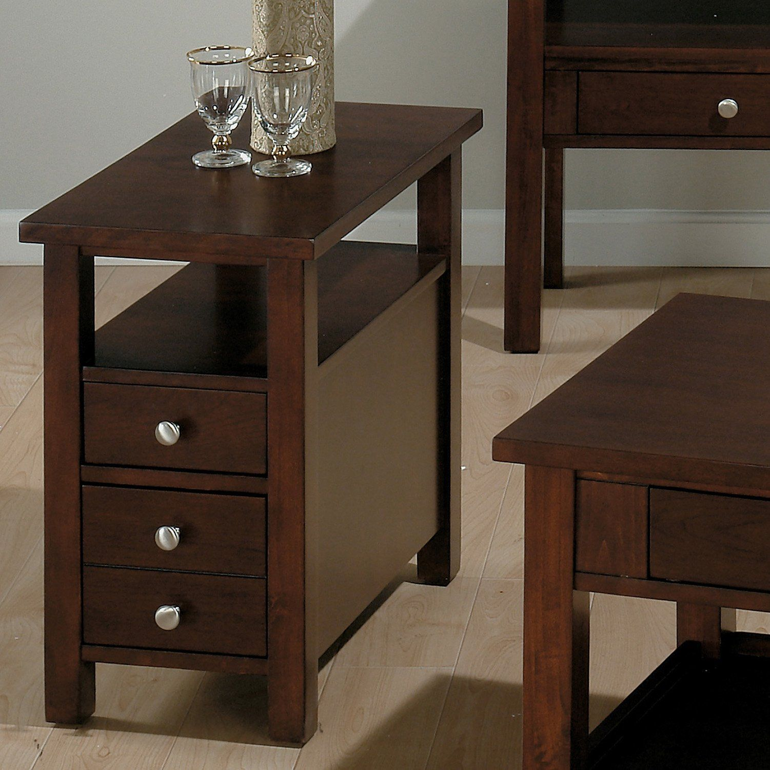 Painting Of Perfect Small End Table With Drawer With Images Chair Side Table Small End Tables Side Table With Drawer