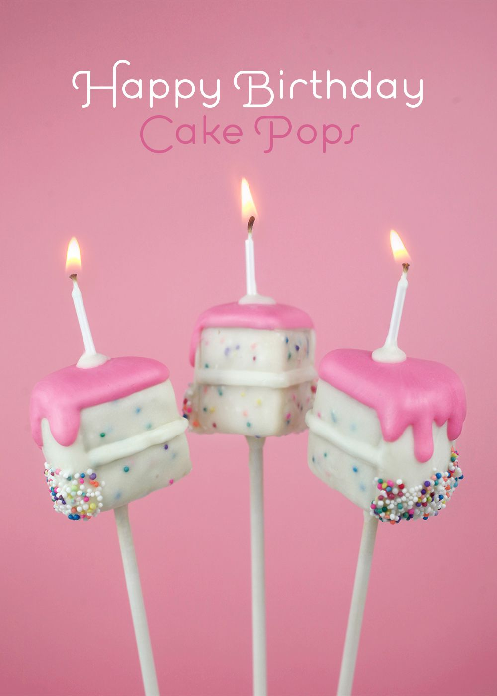 Tremendous Happy Birthday Cake Pops With Images Birthday Cake Pops Funny Birthday Cards Online Kookostrdamsfinfo