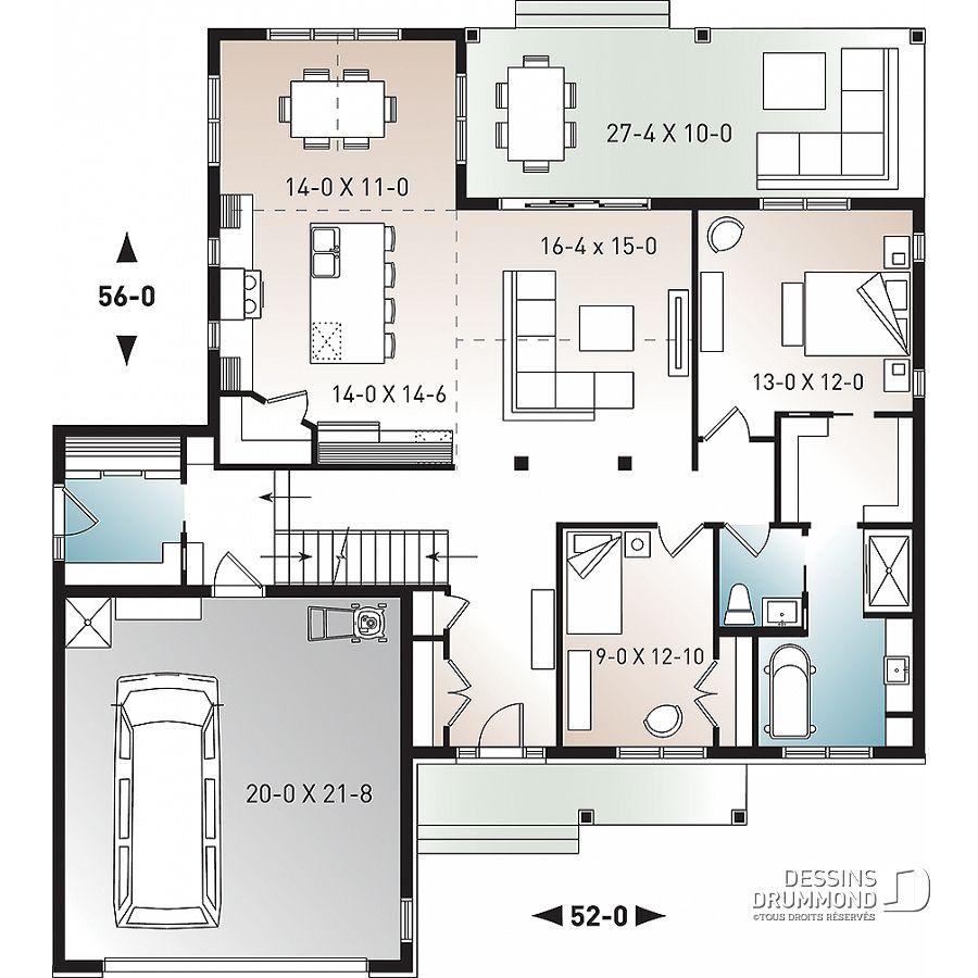 Plan De Maison Unifamiliale Jennifer No 3246 V2 In 2019