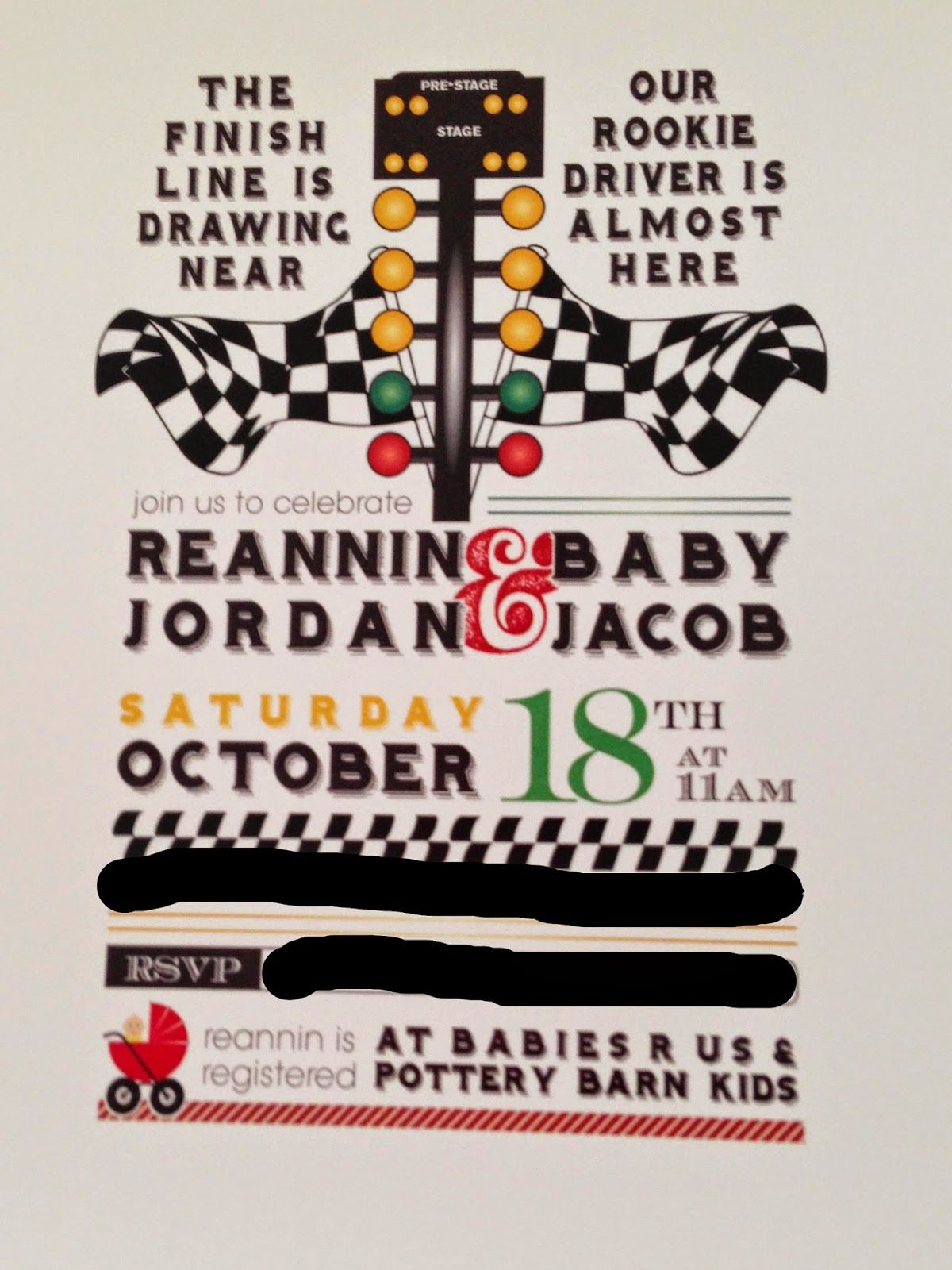 drag racing tree birthday invitations Google Search