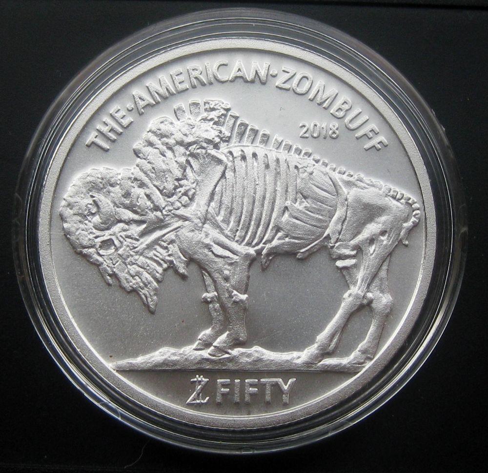 Zombucks 1oz Silver Zombuff BU