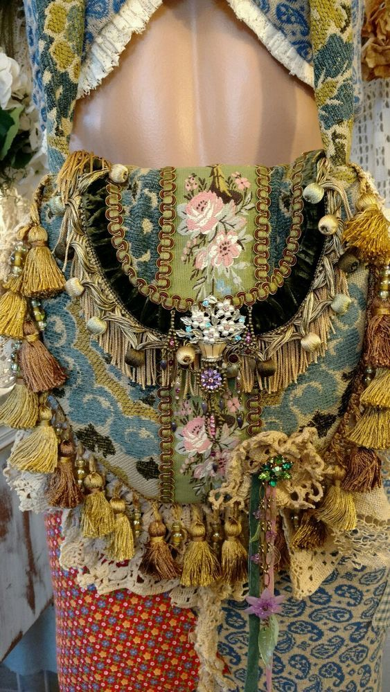 Handmade Fabric Vintage Lace Crochet Fringe Jewelry