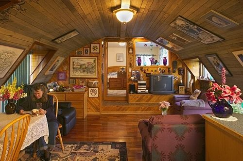 Charming Quonset Hut Homes Interiors   I Could Live Here!!