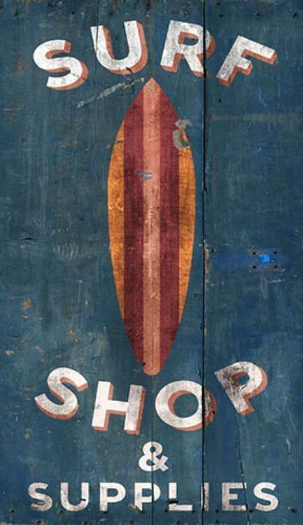 Surf Shop Custom Art Sign