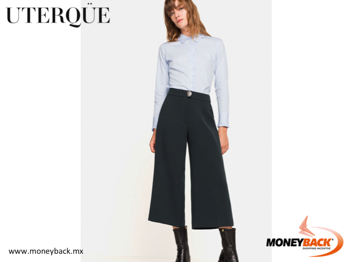 MONEYBACK MEXICO. Striped cotton poplin shirt made in Spain. A tailored design with small ruffle details on the collar, cuffs and front. Shop this or other amazing clothing in UTERQÜE Mexico, save your receipt and come to our module for a tax refund for foreigners! #moneyback www.moneyback.mx