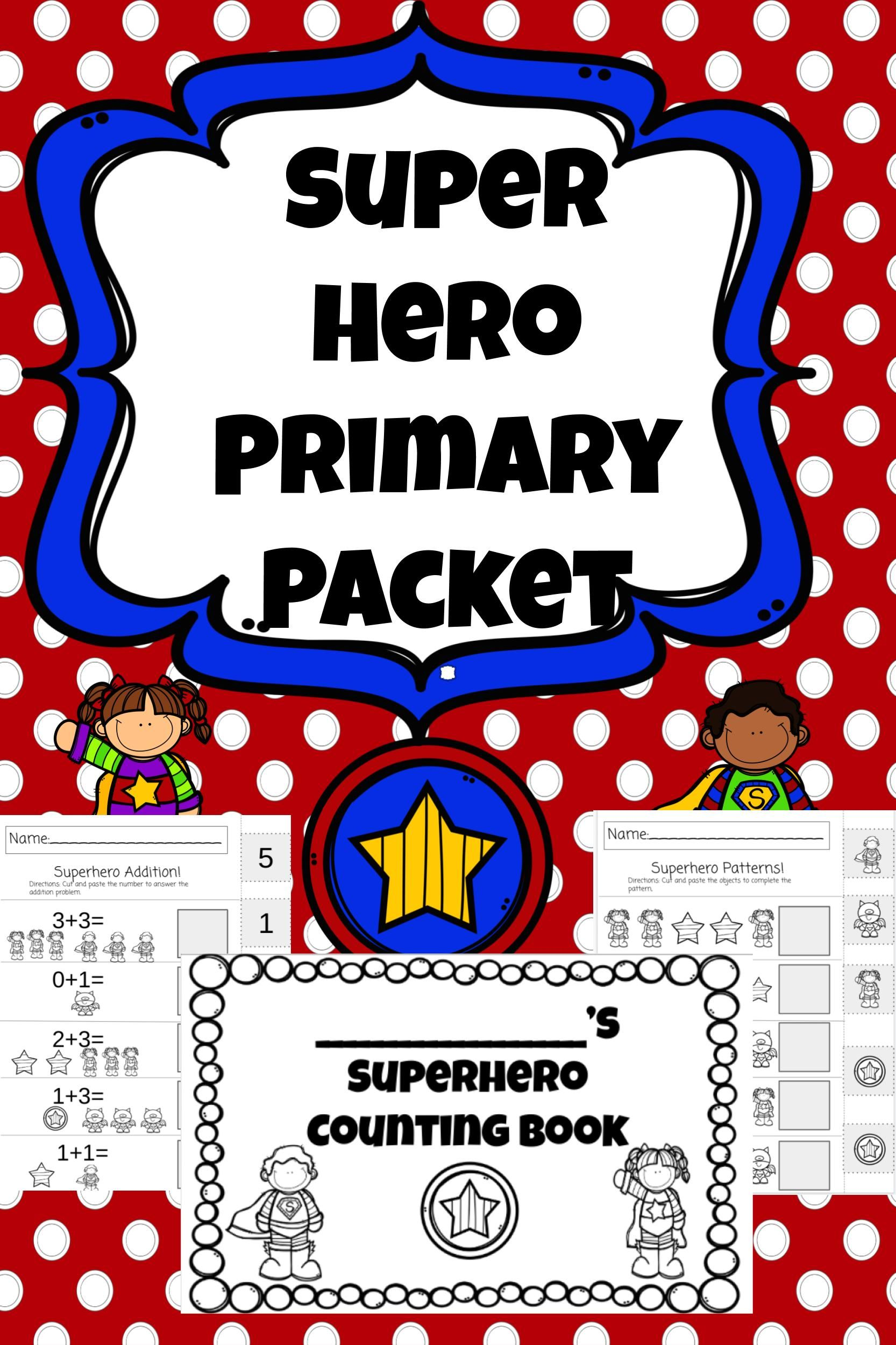 Superhero Primary Printable Activities