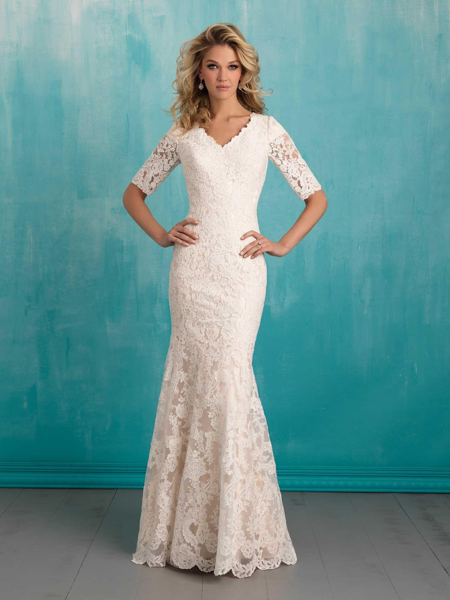 Blue camo wedding dresses   Gorgeous Modest Wedding Dresses  For my girl  Pinterest