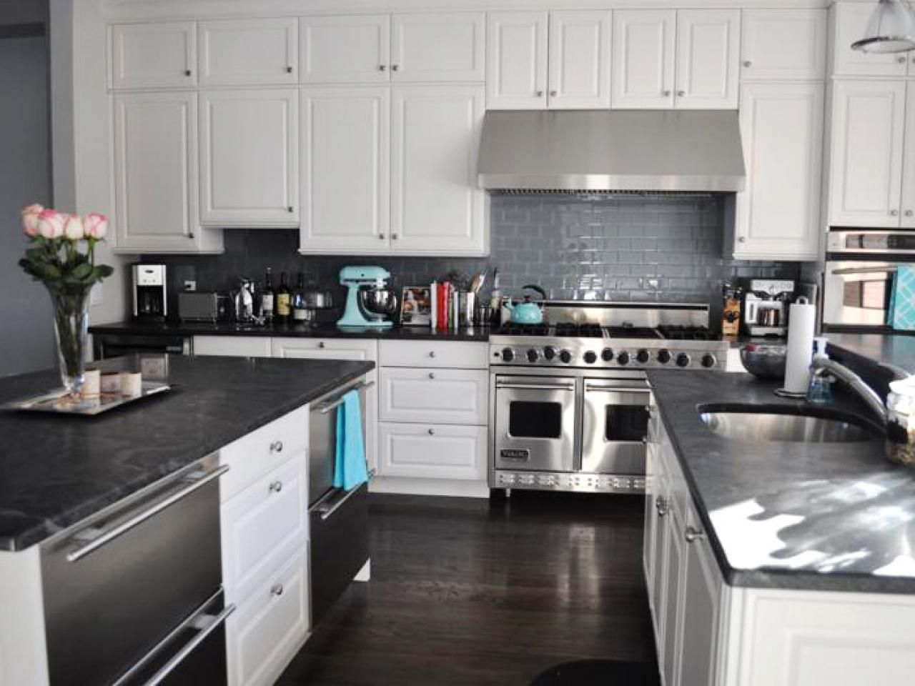 Marble Kitchen Countertop Options Kitchen Designs Choose Kitchen Layouts Re Diy Kitchen Countertops Kitchen Countertop Choices Kitchen Countertop Options Black kitchen cabinets with white marble countertops
