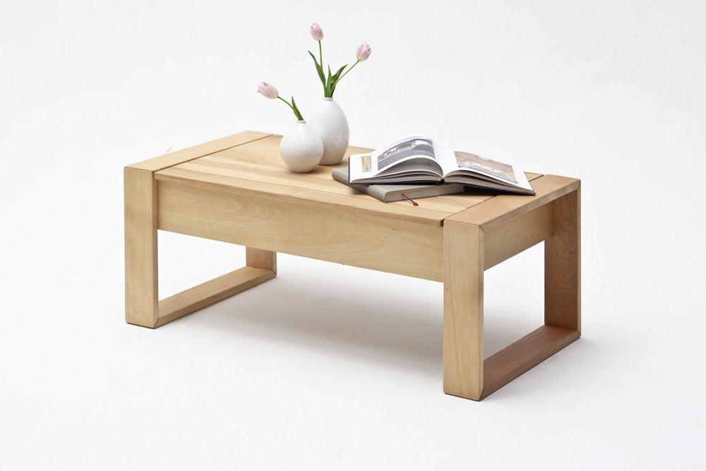Couchtisch Bobby Mit Plattenlift Massivholz 1 X Couchtisch Lift Funktion  Für Tischplatte Darunter Ablagefach 2