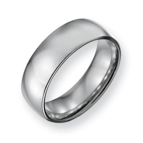 Stainless Steel 7mm Polished Comfort Fit Wedding Band Ring (Size 6-13 ) Chisel. $34.00