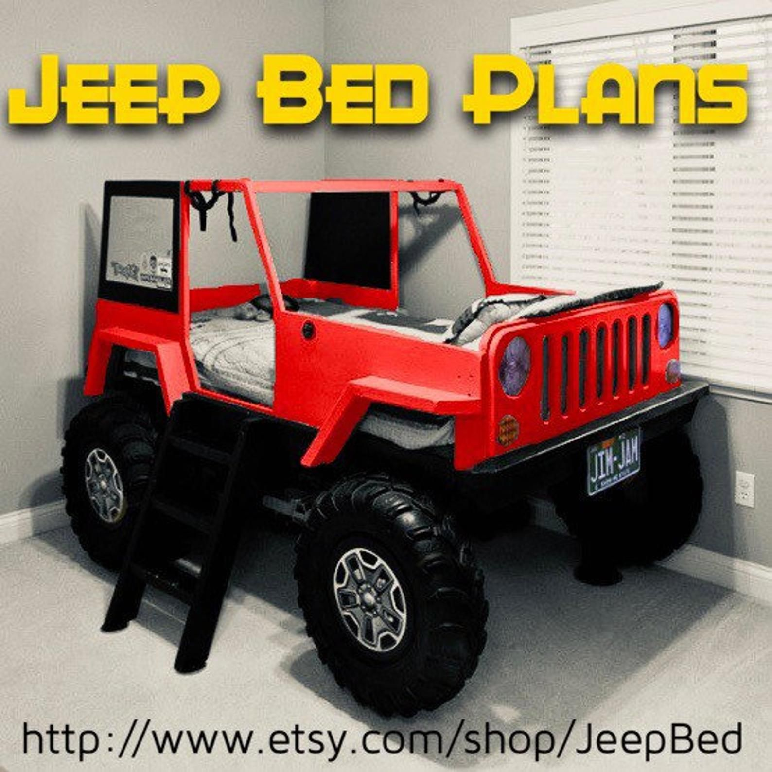 Car Bed Plans Jeep Twin Size Car Bed Jeep bed, Car bed