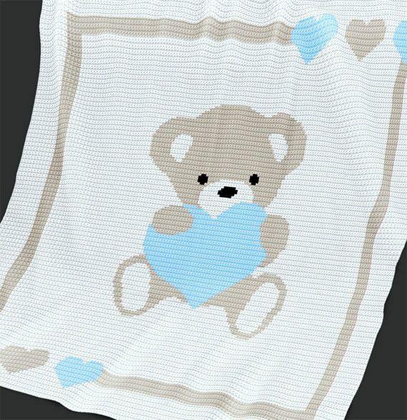 Resultado de imagen para mantas bebe crochet patrones | Canastilla ...