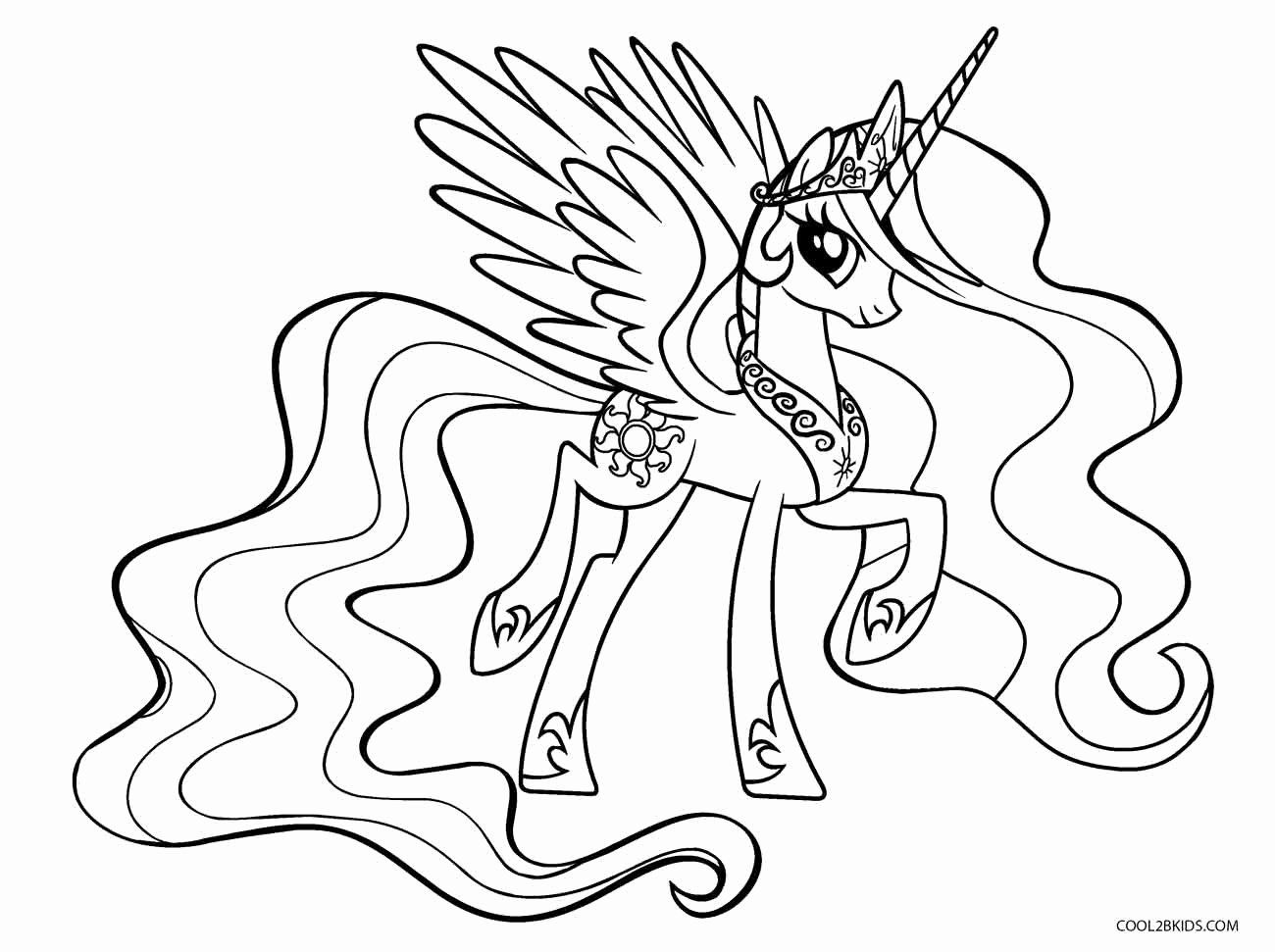 32 Princess Celestia Coloring Page My Little Pony Coloring Pony