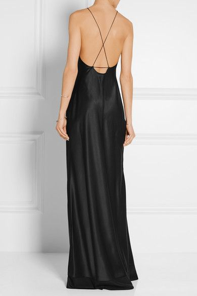 Calvin Klein Collection Silk Satin Gown Net A Porter Com Open Back Is Gorgeous