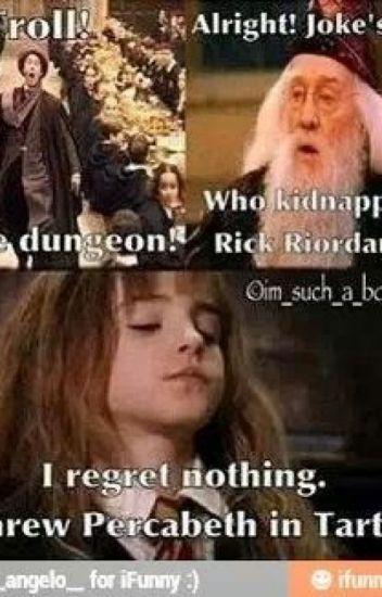 Harry Potter Percy Jackson Crossover Percy Jackson Books Percy Jackson Funny Percy Jackson Memes