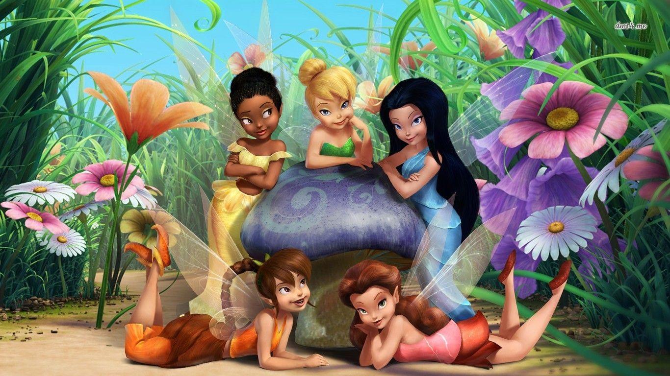 Tinker Bell And Friends Hd Wallpaper Tinkerbell And Friends Tinkerbell Pictures Cartoon Wallpaper