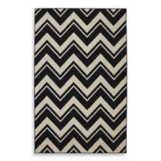 Mohawk Home Lascala Chevron Black & White Stripe Indoor Rugs - Bed Bath & Beyond - $280 8X10