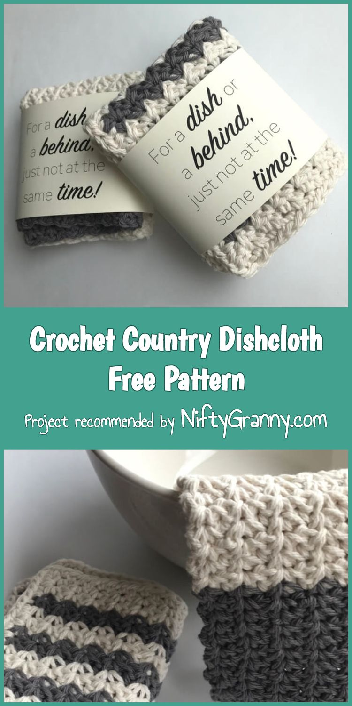 5 Stunning & Easy Crochet Dishcloths Free Patterns | Häkelmuster