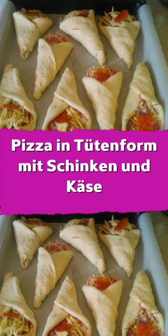 Taschenförmige Pizza mit Schinken und Käse - mein Blog