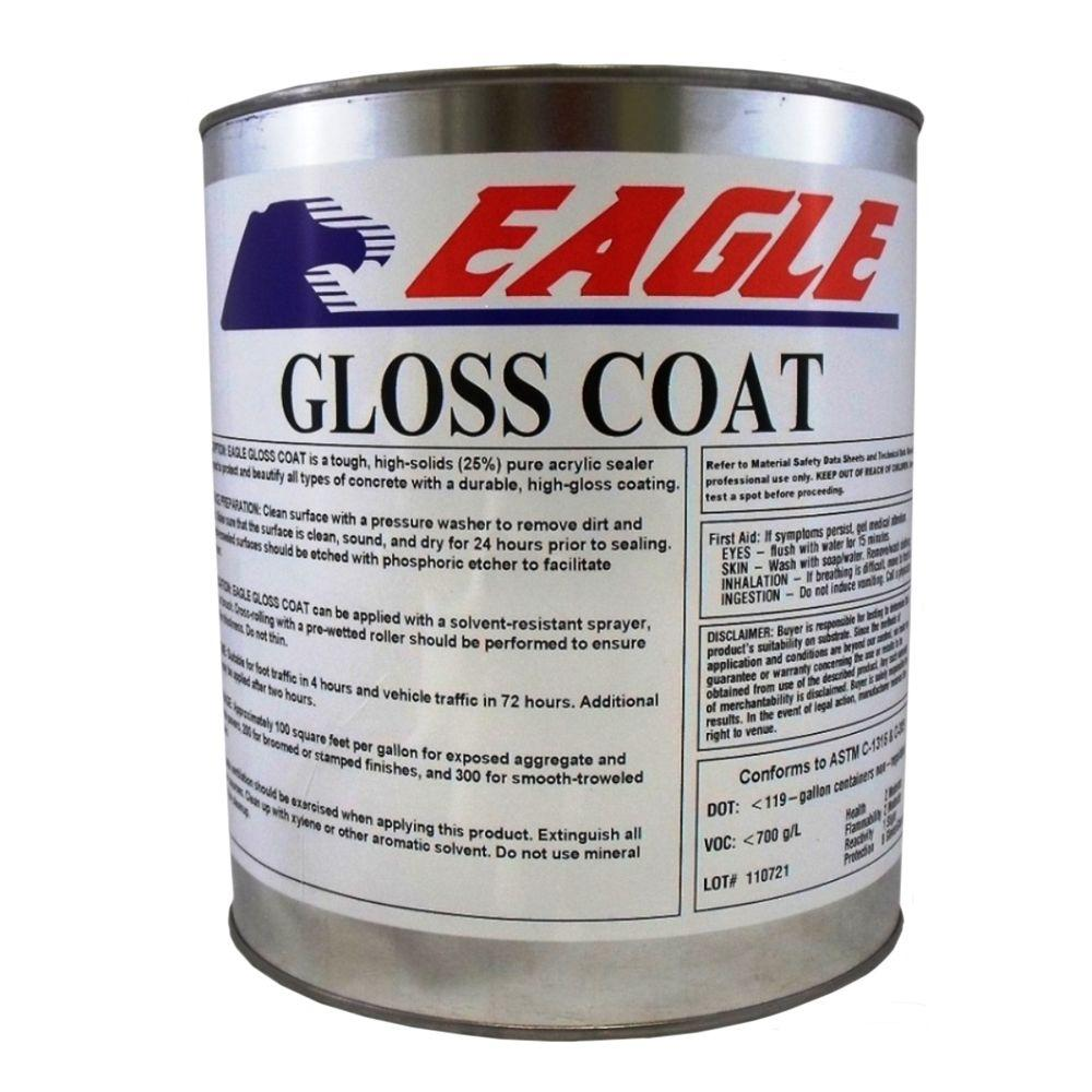 Eagle 1 Gal Gloss Coat Clear Wet Look Solvent Based Acrylic Concrete Sealer Euc1 The Home Depot Concrete Sealer Sealer Concrete