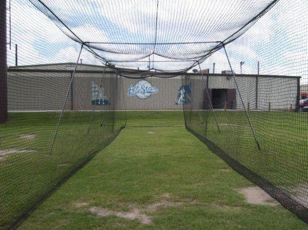 Baseball Batting Cage Net 50x12x10 24 Twisted Poly Hdpe W Door Opening Cimarron Batting Cage Net Batting Cages Backyard Baseball