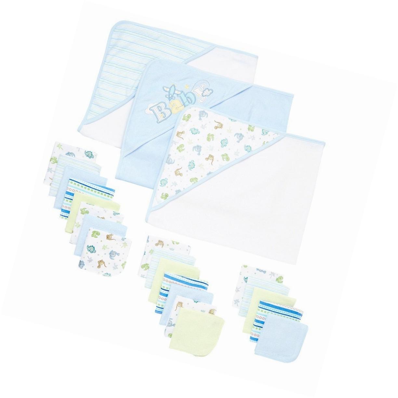 Spasilk 23-Piece Essential Baby Bath Gift Set Blue | Common Shopping ...