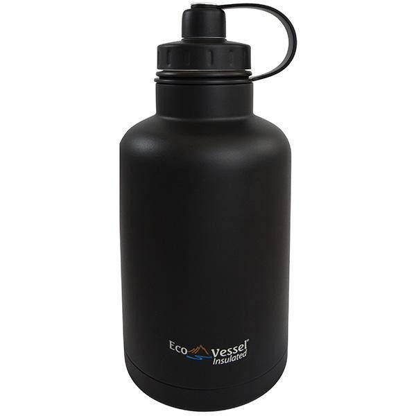 Boss Triple Insulated SS Growler, Black Shadow, 64 oz.