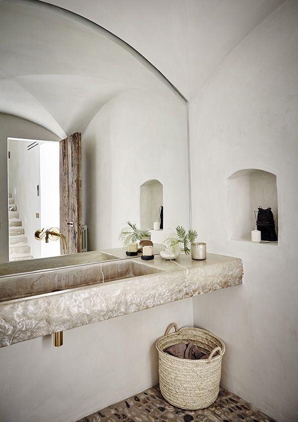 Traumhafter Waschtisch aus bezauberndem Naturstein Super Flair - badezimmer aufteilung neubau