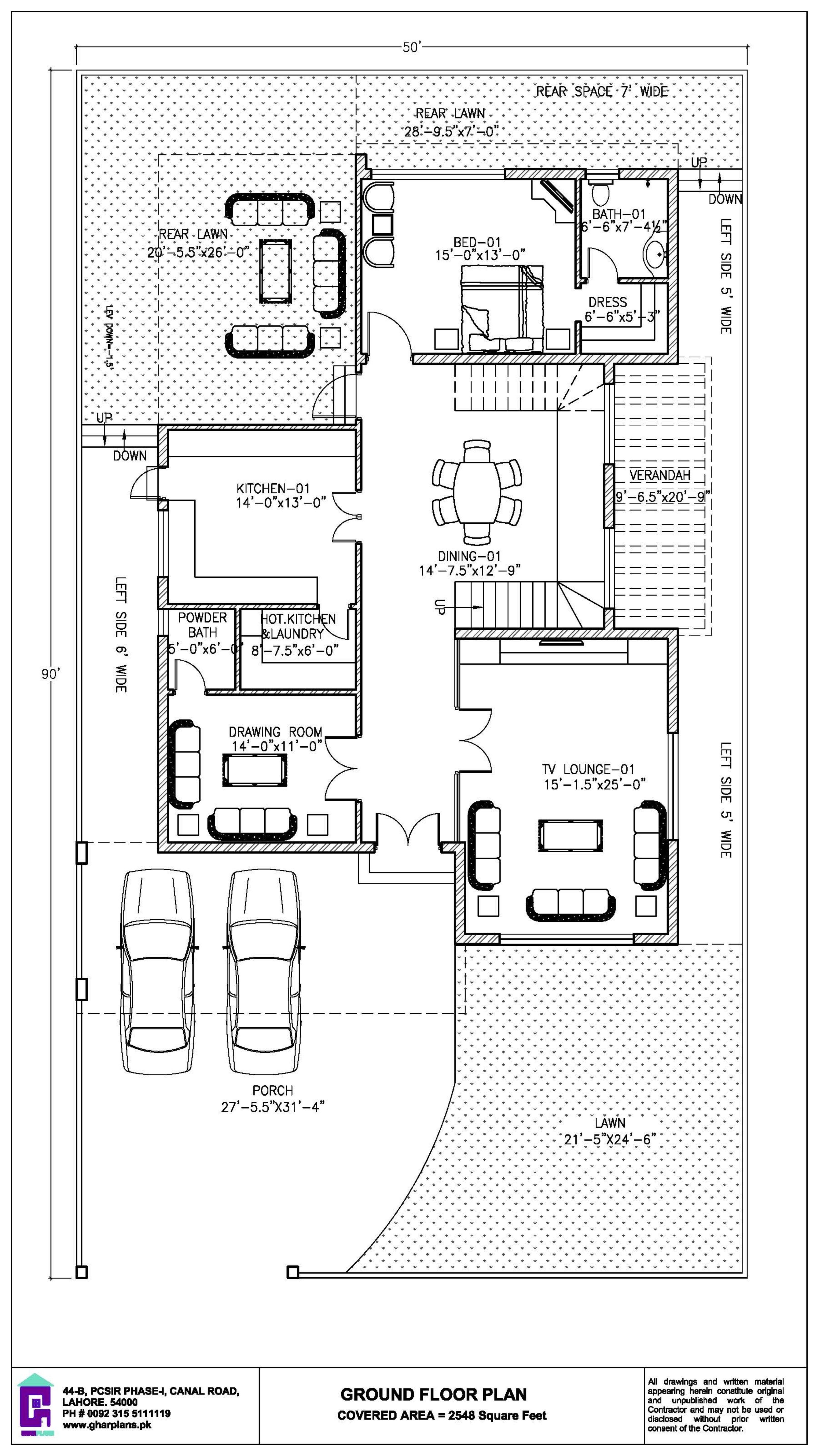 4 Bedroom One Kanal House Ground Floor Plan Ground Floor Plan House Plans Mansion Home Map Design