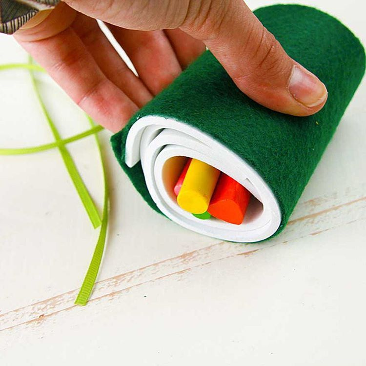 Obsessed with making sushi crayon rolls! #Fiskars It seriously takes 2 minutes.