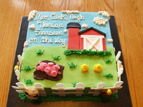 Farm Baby Shower This Cake Would Be So Cute For Jennys Baby Shower