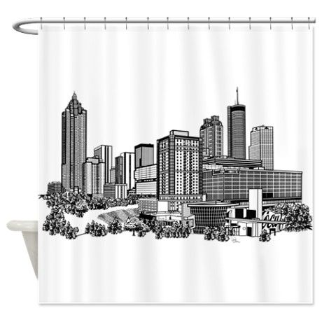 Atlanta, Georgia Art Shower Curtain