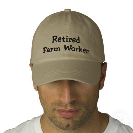 074fe3a7d953a Retired Farm Worker Embroidered Baseball Hat. Gift IdeasBass FishingWalleye  FishingGone FishingFishing HatsFishing HumorFly ...