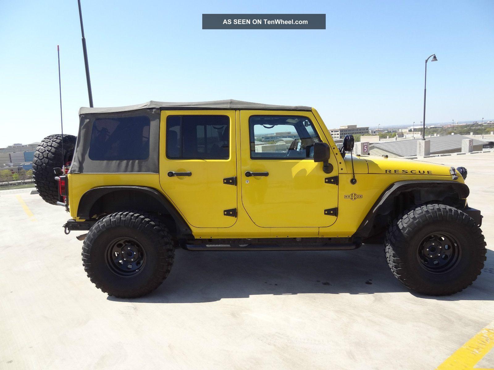 "2008 Jeep Wrangler Unlimited Jk 4x4 Lift Lights 35 "" Tires More"