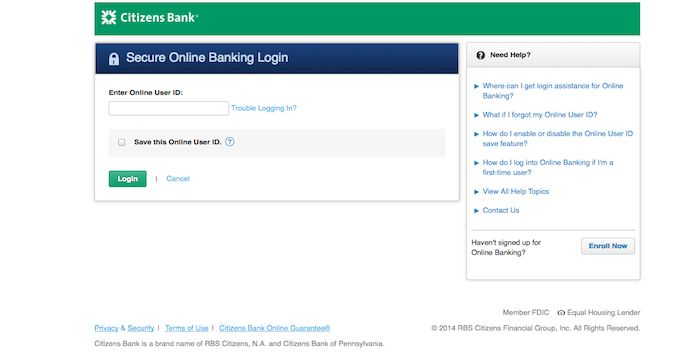 Citizens Bank Login Online Loans Login Online Banking