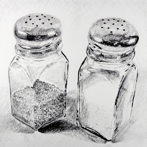 Salt & Pepper Shakers Drawing | Food / Cooking | Pinterest ...