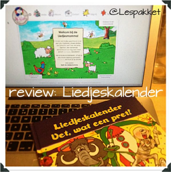 Review: Liedjeskalender - jufBianca.nl - muziek - elke maand een liedje - boek en cd
