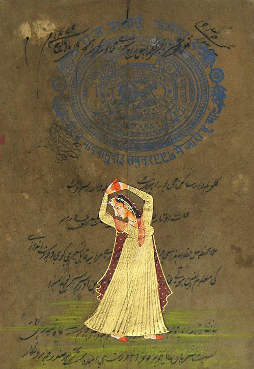 Ragini (Miniature Painting on Stamp Paper - Unframed)