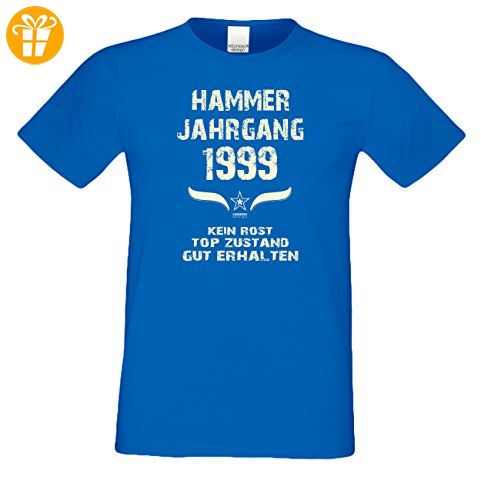 Modisches 18. Jahre Fun T-Shirt zum Männer-Geburtstag Hammer Jahrgang 1999 Farbe: royal-blau Gr: XL (*Partner-Link)