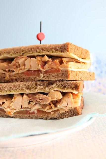 Recetas de Mon: Sandwich de pollo con havarti y mostaza de hierbas