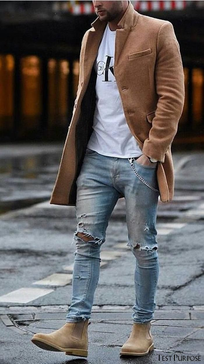 FALL  IS  COMING  UP  GENTLEMEN ! IT'S TIME TO REFINE YOUR FALL WARDROBE. This article outlines all the staple pieces you need to get you through fall! Even if you're NOT into fashion you'll be able to follow this guide seamlessly. | Men's fall fashion | men's fashion ideas | fall outfits for guys | men's foolproof looks | Men's Chelsea boots | Men's knitted sweaters | men's long coats | men's jackets | leather jackets | suede jackets | LLEGANCE ...y clothing items such as combat trousers or mil